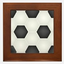 Football Ball Texture Framed Tile
