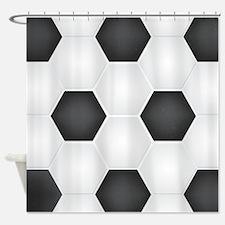 Football Ball Texture Shower Curtain