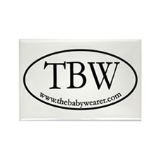 TBW Oval Rectangle Magnet (10 pack)