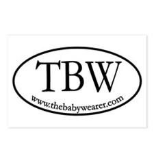 TBW Oval Postcards (Package of 8)