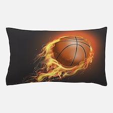 Flaming Basketball Pillow Case