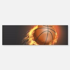 Flaming Basketball Bumper Bumper Bumper Sticker