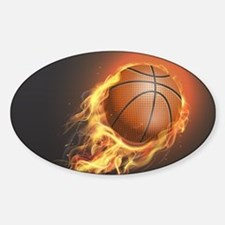 Flaming Basketball Decal
