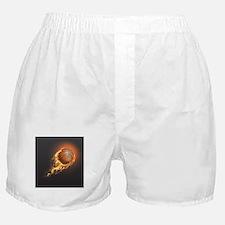Flaming Basketball Boxer Shorts