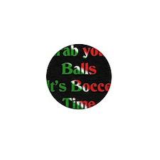 Bocce Time Mini Button