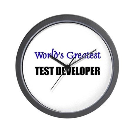 Worlds Greatest TEST DEVELOPER Wall Clock