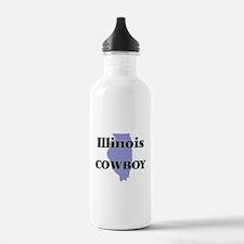 Illinois Cowboy Water Bottle