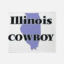 Illinois Cowboy Throw Blanket