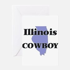 Illinois Cowboy Greeting Cards