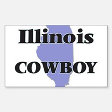 Illinois Cowboy Decal