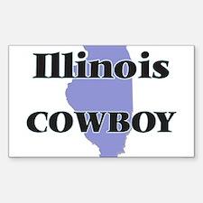 Illinois Cowboy Decal