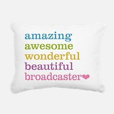 Amazing Broadcaster Rectangular Canvas Pillow