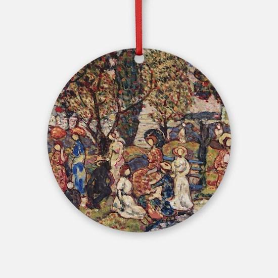 Autumn by Prendergast Round Ornament