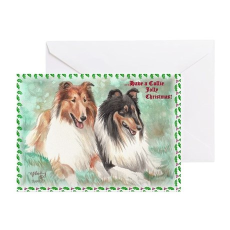 """""""Collie Jolly Christmas"""" Cards (Pk of 10)"""