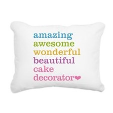 Amazing Cake Decorator Rectangular Canvas Pillow