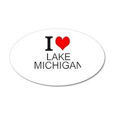 I Love Lake Michigan Wall Decal