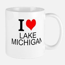 I Love Lake Michigan Mugs