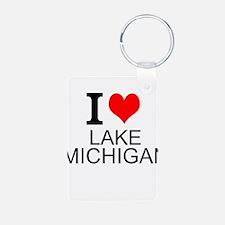 I Love Lake Michigan Keychains