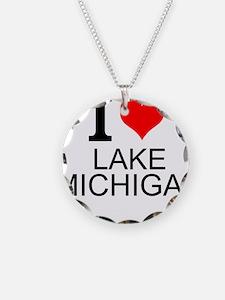 I Love Lake Michigan Necklace