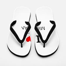 I Love Lake Michigan Flip Flops