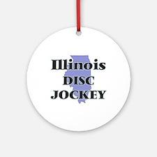 Illinois Disc Jockey Round Ornament