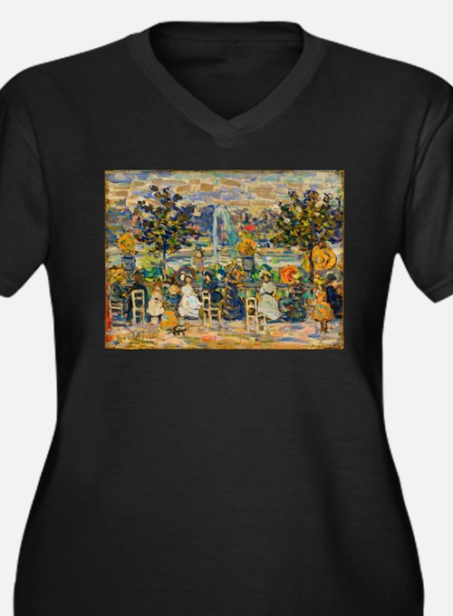 In Luxembourg Gardens by Prender Plus Size T-Shirt