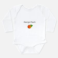 Funny Georgia girls Long Sleeve Infant Bodysuit