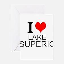 I Love Lake Superior Greeting Cards