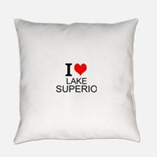 I Love Lake Superior Everyday Pillow