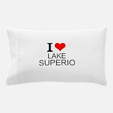 I Love Lake Superior Pillow Case