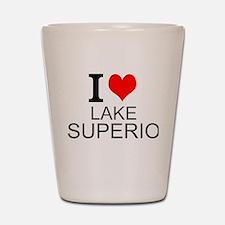 I Love Lake Superior Shot Glass