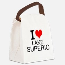 I Love Lake Superior Canvas Lunch Bag