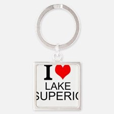 I Love Lake Superior Keychains