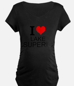 I Love Lake Superior Maternity T-Shirt