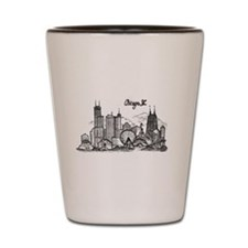 landmarks clean Shot Glass