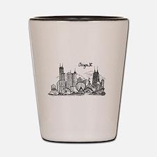 landmarks clean Shot Glass