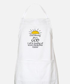 GOOD MORNING THIS IS GOD Apron