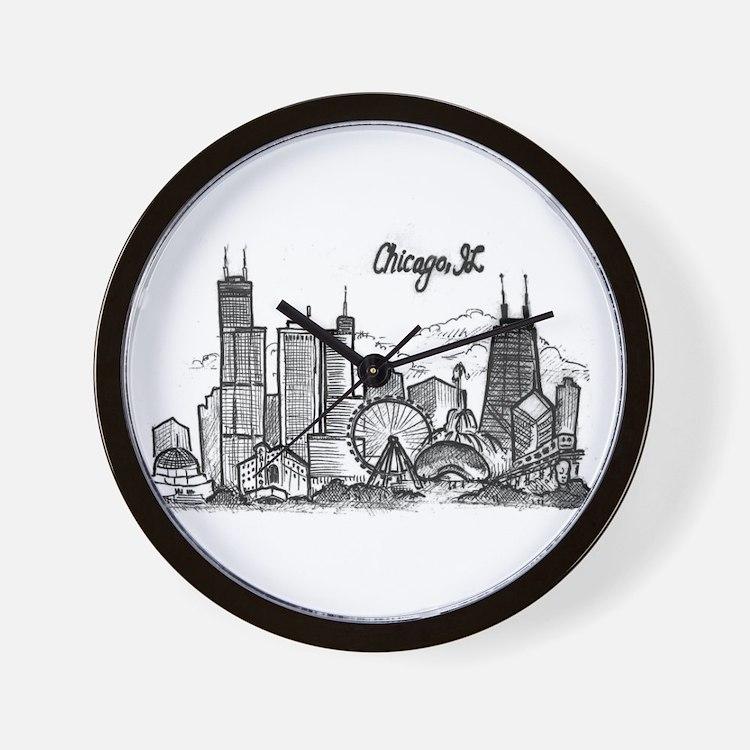 landmarks clean Wall Clock