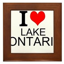 I Love Lake Ontario Framed Tile
