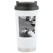 Bulldog hood ornament Travel Coffee Mug