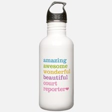 Amazing Court Reporter Water Bottle