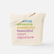 Amazing Court Reporter Tote Bag