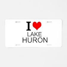 I Love Lake Huron Aluminum License Plate