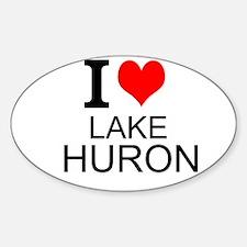 I Love Lake Huron Decal