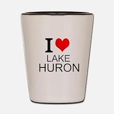 I Love Lake Huron Shot Glass