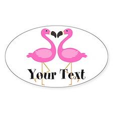 Personalizable Pink Flamingos Decal