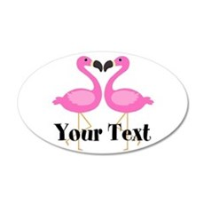 Personalizable Pink Flamingos Wall Decal