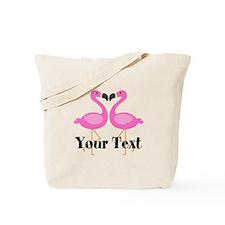 Personalizable Pink Flamingos Tote Bag