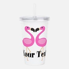 Personalizable Pink Flamingos Acrylic Double-wall