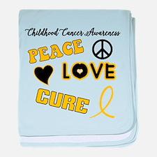 Childhood Cancer Awareness baby blanket